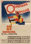Vintage Spanish Olympiad Poster (1936)